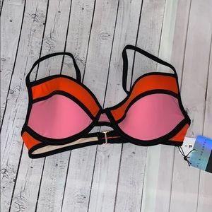 La hearts underwire bikini top